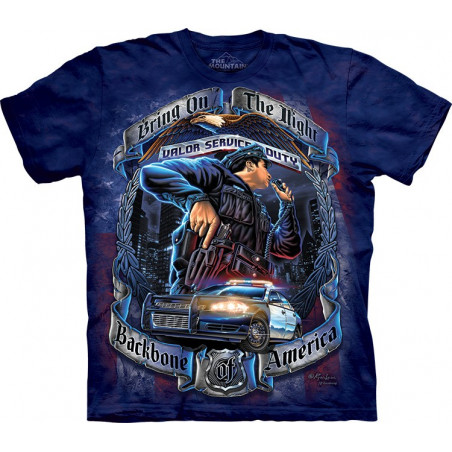 Backbone Of America Police T-Shirt The Mountain