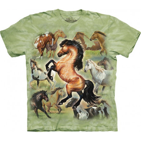Horse Collage T-Shirt The Mountain