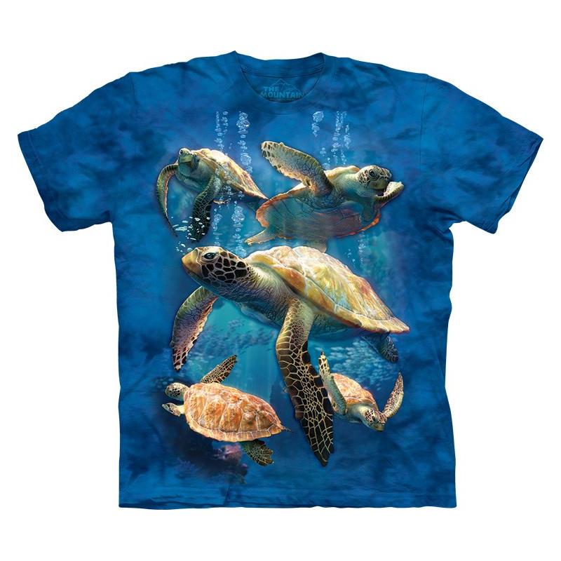 Sea Turtle Family T-Shirt The Mountain