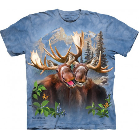 Moose Selfie T-Shirt The Mountain