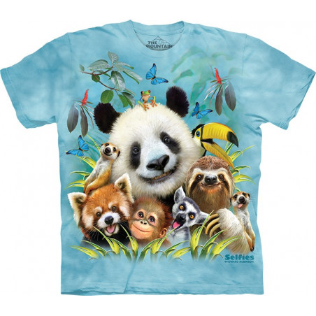 Funny Zoo Selfie T-Shirt The Mountain