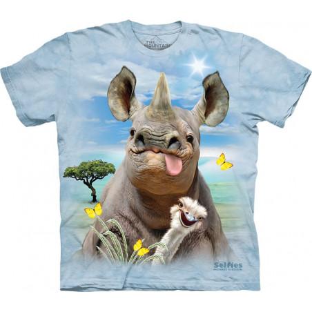 Novelty Rhino Selfie T-Shirt The Mountain