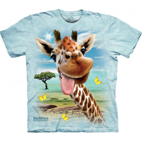 Giraffe Selfie T-Shirt The Mountain
