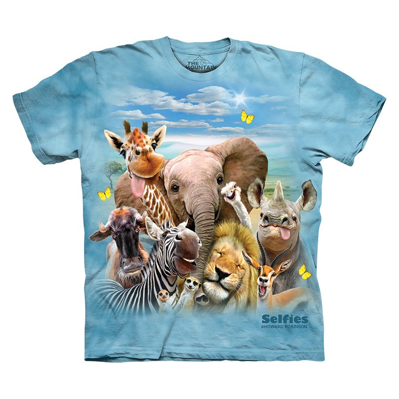 African Selfie T-Shirt The Mountain