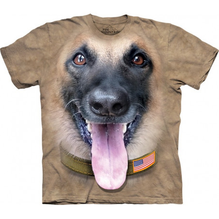 Big Face Belgian Malinois T-Shirt The Mountain