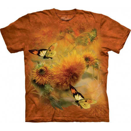 Sunflowers and Butterflies T-Shirt The Mountain