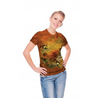 Sunflowers and Butterflies T-Shirt The Mountain