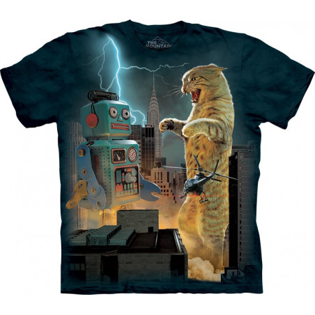 Catzilla vs. Robot T-Shirt The Mountain