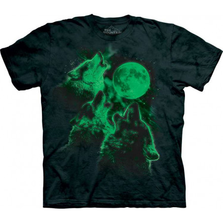 Three Wolf Moon Glow T-Shirt The Mountain