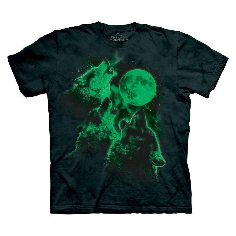 Three Wolf Moon Glow T-Shirt The Mountain