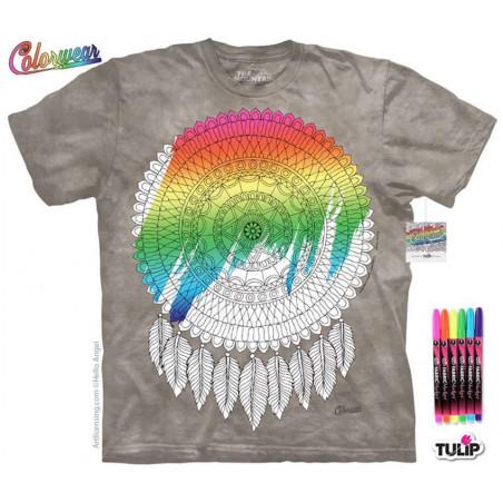 Mandalafeather Dreamcatcher T-Shirt The Mountain