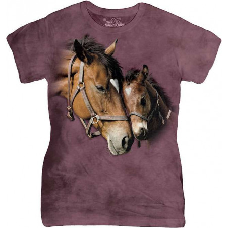 Two Hearts Ladies T-Shirt The Mountain