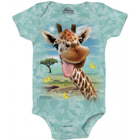 Giraffe Selfie Baby Onesie The Mountain