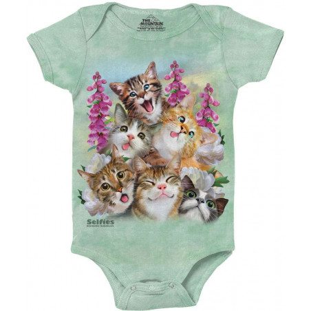 Kittens Selfie Baby Onesie The Mountain