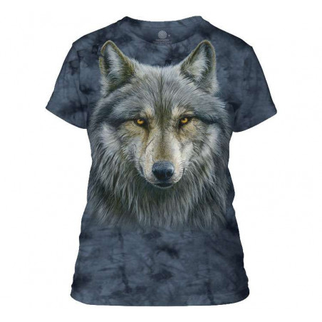 Warrior Wolf Ladies T-Shirt The Mountain
