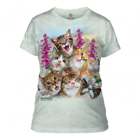 Kittens Selfie Ladies T-Shirt The Mountain
