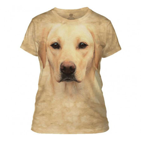 Yellow Lab Portrait Ladies T-Shirt