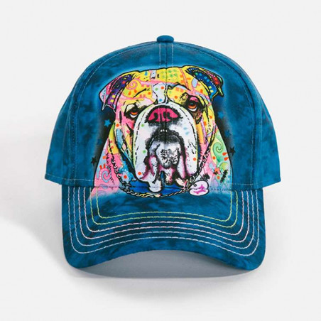 Colorful Bulldog Hat