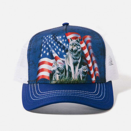 Wolf Flag Trucker Hat The Mountain