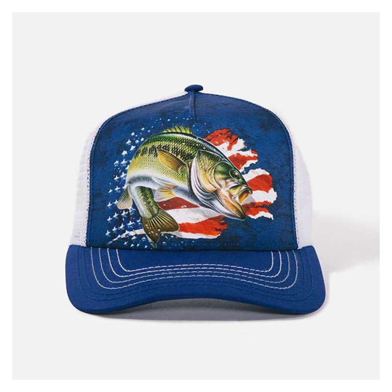 Patriotic Bass Trucker Hat