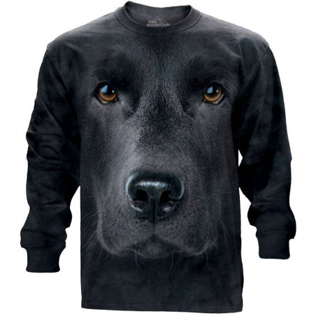 Black Lab Face Long Sleeve Tee