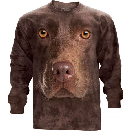Chocolate Lab Face Long Sleeve Tee