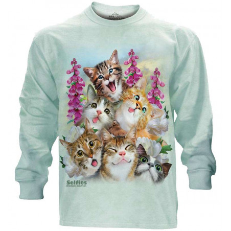 Kittens Selfie Long Sleeve Tee