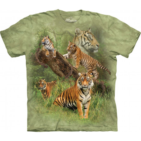 Wild Tiger Collage T-Shirt The Mountain