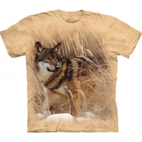Winter Wolf Portrait T-Shirt The Mountain