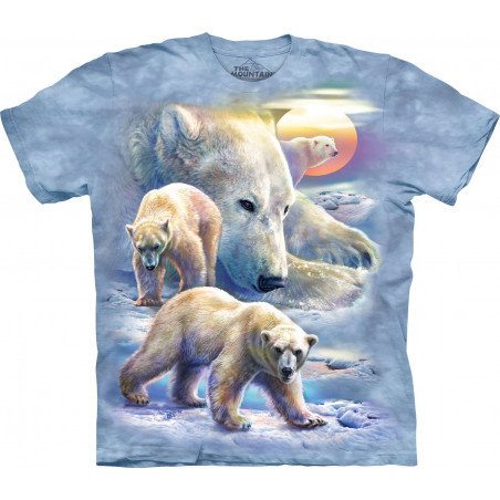 Sunrise Polar Bear Collage T-Shirt The Mountain