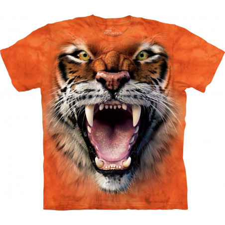 Roaring Tiger Face T-Shirt The Mountain
