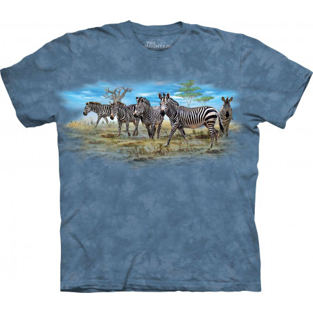 Zebra Gathering T-Shirt The Mountain