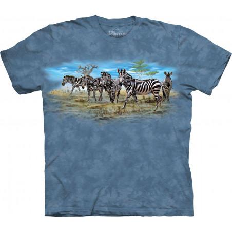 Zebra Gathering T-Shirt The Mountain