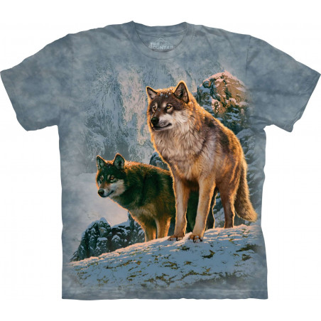 Wolf Couple Sunset T-Shirt