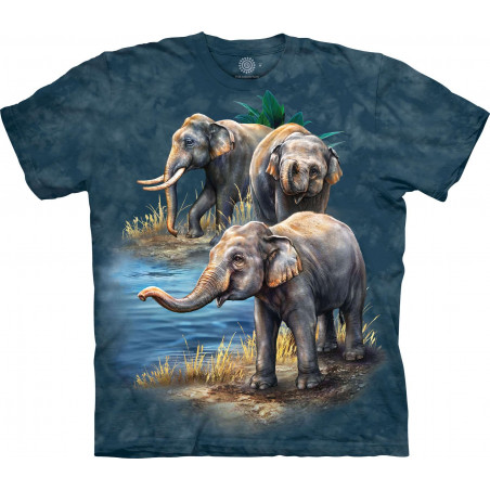 Asian Elephant Collage T-Shirt