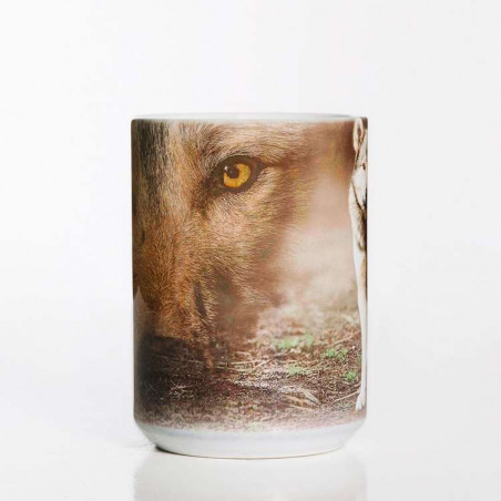 Grey Wolf Portrait Ceramic Mug