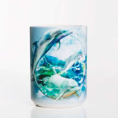 Dolphin Bubble Ceramic Mug