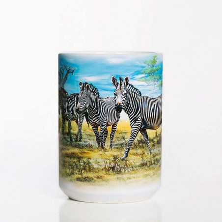 Zebra Gathering Ceramic Mug The Mountain