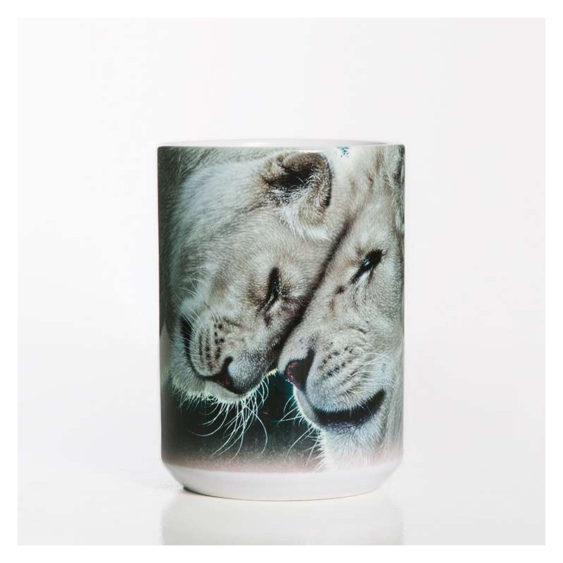 White Lions Love Ceramic Mug The Mountain