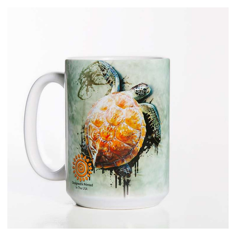 Sea Turtle Climb Ceramic Mug The Mountain
