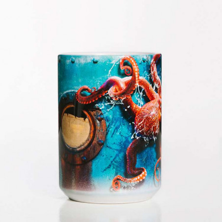 Octopus Climb Ceramic Mug The Mountain