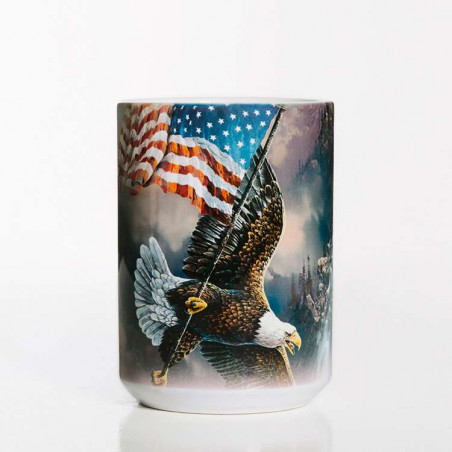 Flag-Bearing Eagle Ceramic Mug The Mountain