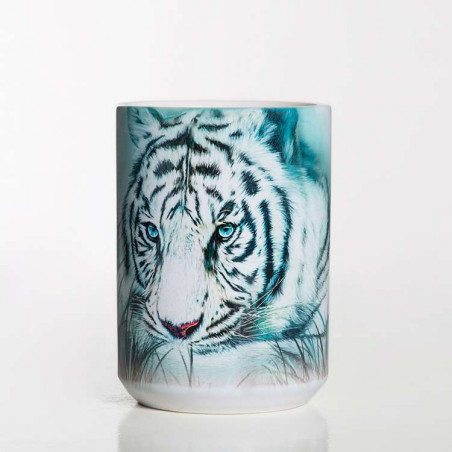 Ceramic Mug Thoughtful White Tiger