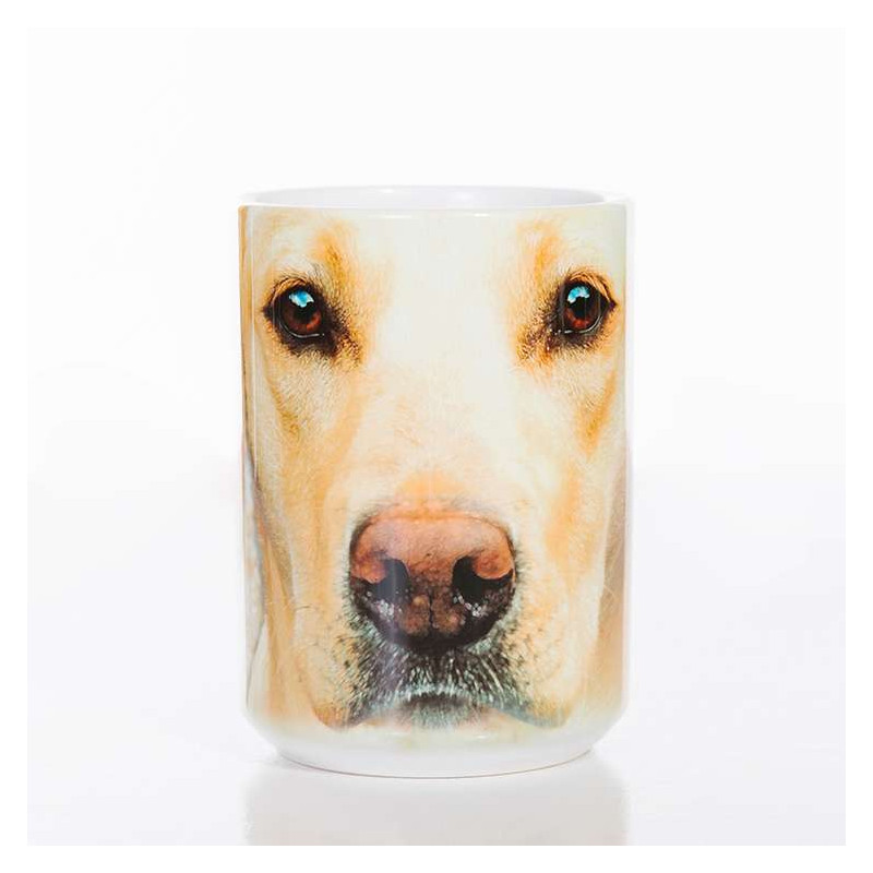 Yellow Lab Portrait Classic Ceramic Mug The Mountain
