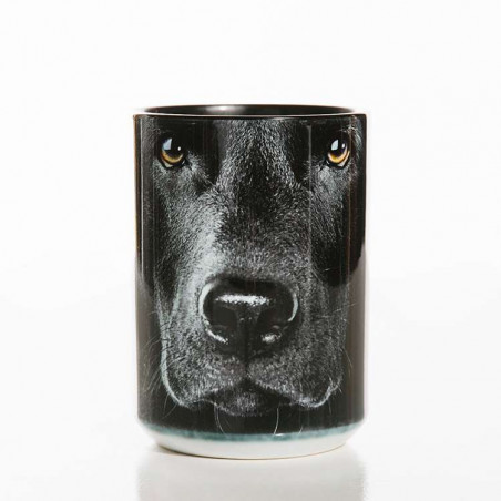 Black Lab Face Classic Ceramic Mug The Mountain