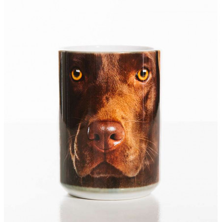 Chocolate Lab Face Classic Ceramic Mug
