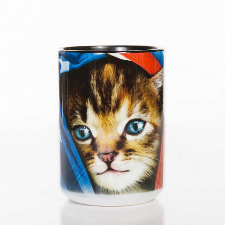 Ceramic Mug Patriotic Kitten
