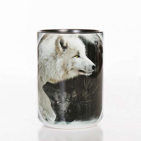 Yin Yang Wolves Classic Ceramic Mug The Mountain