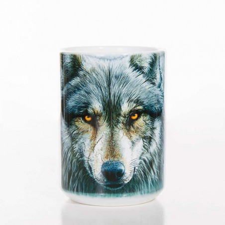 Warrior Wolf Classic Ceramic Mug The Mountain