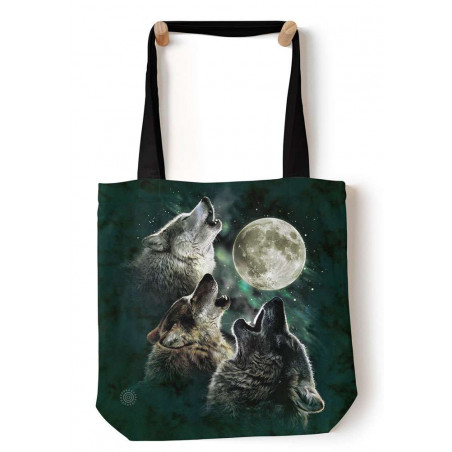 Three Wolf Moon Tote Bag The Mountain